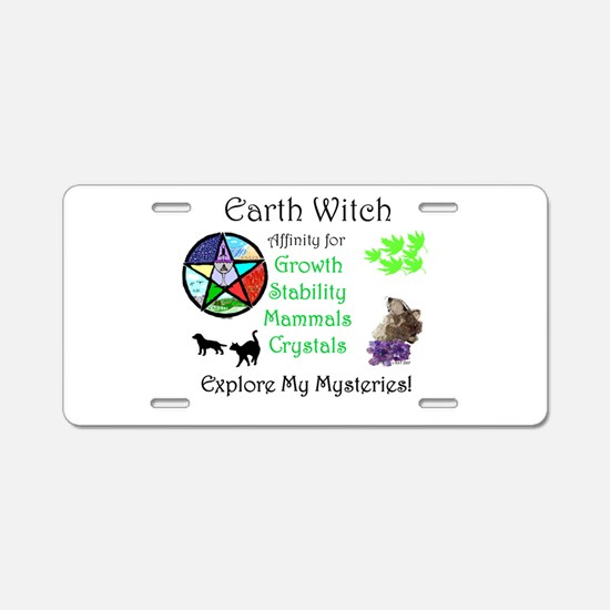 Earth Witch.jpg Aluminum License Plate