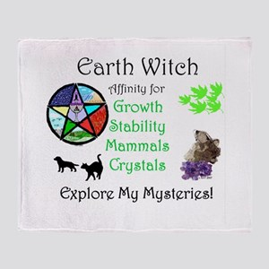 Earth Witch Throw Blanket