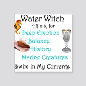 "Water Witch Square Sticker 3"" x 3"""