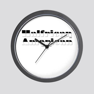 Half White/Half Black Wall Clock