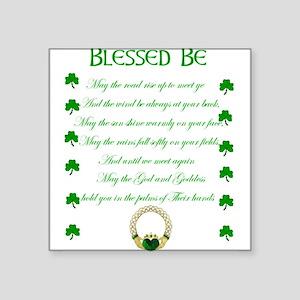 "An Irish Blessing Square Sticker 3"" x 3"""