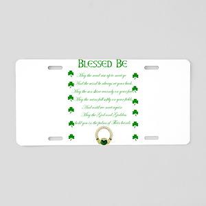 An Irish Blessing Aluminum License Plate
