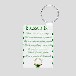 An Irish Blessing Aluminum Photo Keychain