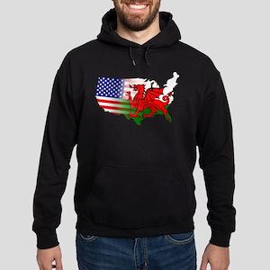 American Welsh Map Hoodie (dark)