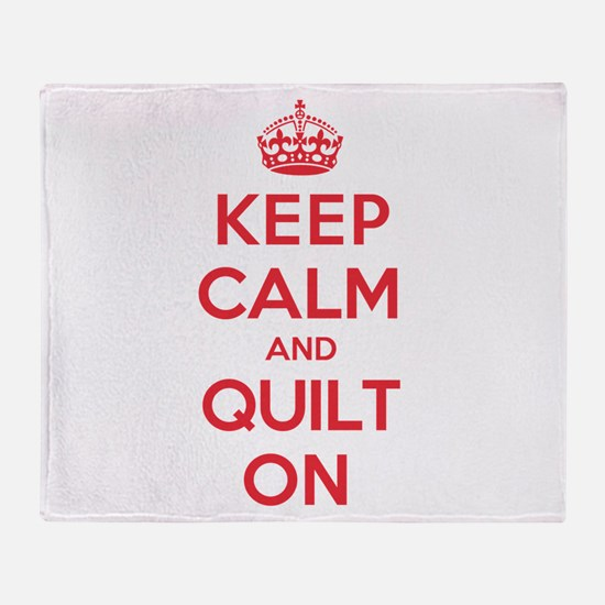 Keep Calm Quilt Throw Blanket