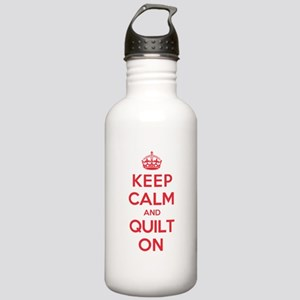 Keep Calm Quilt Stainless Water Bottle 1.0L