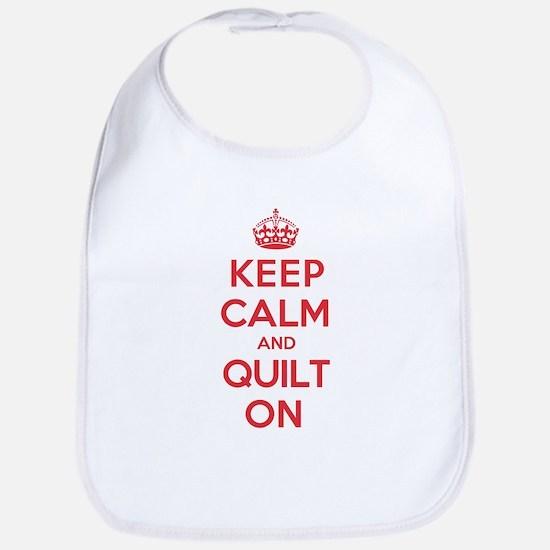 Keep Calm Quilt Bib