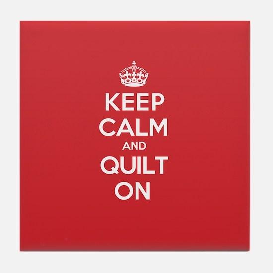Keep Calm Quilt Tile Coaster