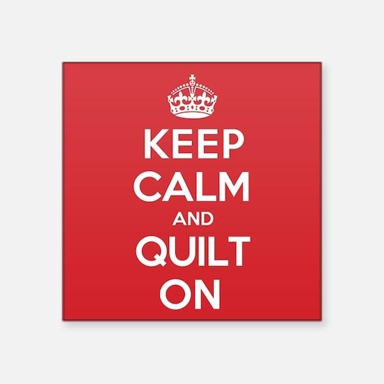 "Keep Calm Quilt Square Sticker 3"" x 3"""