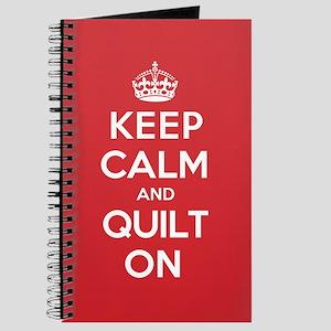 Keep Calm Quilt Journal