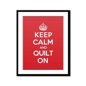 Keep Calm Quilt Framed Panel Print