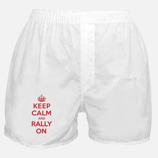 Keep Calm Rally Boxer Shorts