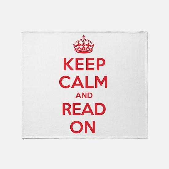 Keep Calm Read Throw Blanket