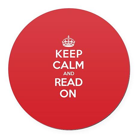 Keep Calm Read Round Car Magnet