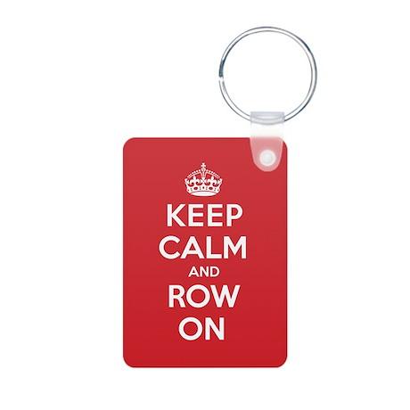 Keep Calm Row Aluminum Photo Keychain