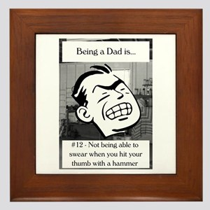 Not Being Able to Swear Dad Framed Tile