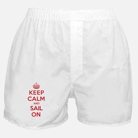 Keep Calm Sail Boxer Shorts