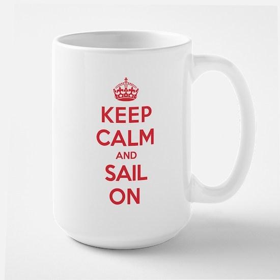 Keep Calm Sail Large Mug