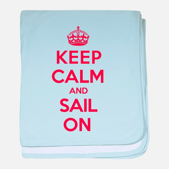 Keep Calm Sail baby blanket