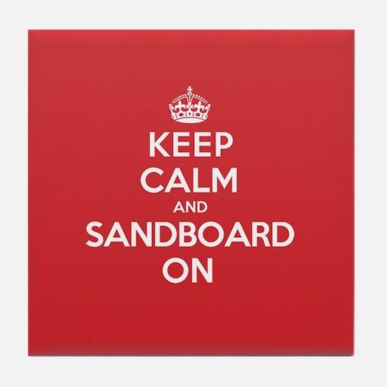 Keep Calm Sandboard Tile Coaster