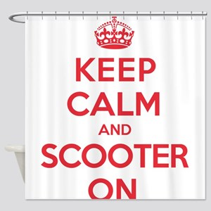 Keep Calm Scooter Shower Curtain