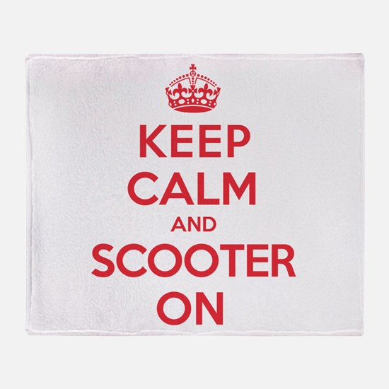 Keep Calm Scooter Throw Blanket