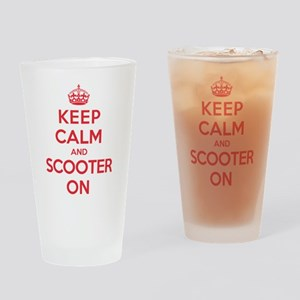 Keep Calm Scooter Drinking Glass