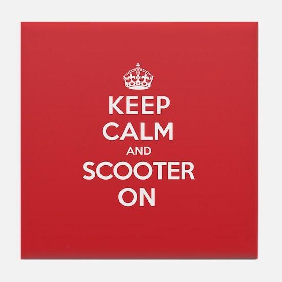 Keep Calm Scooter Tile Coaster