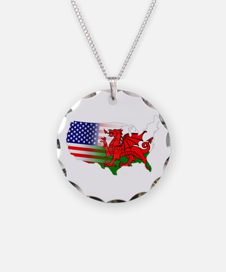 American Welsh Map Necklace