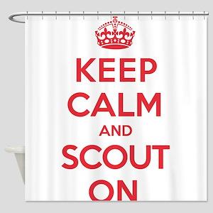 Keep Calm Scout Shower Curtain
