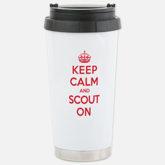 Keep Calm Scout Stainless Steel Travel Mug