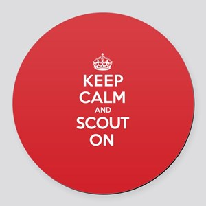 Keep Calm Scout Round Car Magnet