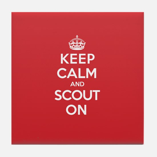 Keep Calm Scout Tile Coaster