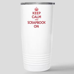 Keep Calm Scrapbook Stainless Steel Travel Mug