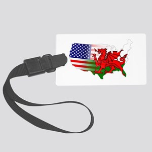 American Welsh Map Large Luggage Tag