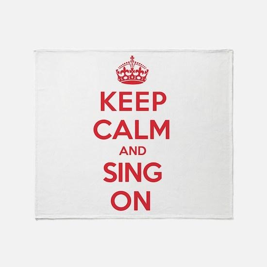 K C Sing On Throw Blanket
