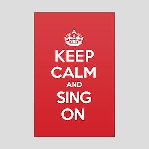K C Sing On Mini Poster Print
