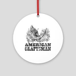 American Craftsman Distressed Ornament (Round)