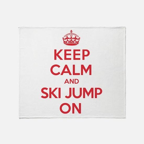 K C Ski Jump On Throw Blanket