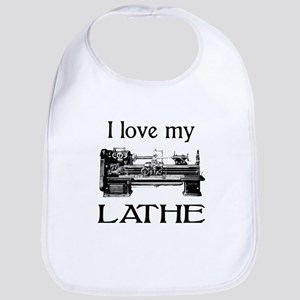 I Love My Lathe Bib