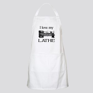 I Love My Lathe BBQ Apron