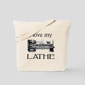 I Love My Lathe Tote Bag