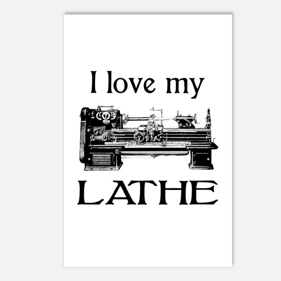 I Love My Lathe Postcards (Package of 8)