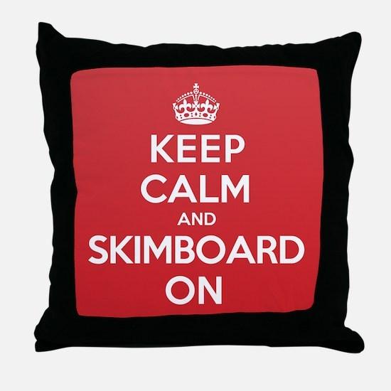 K C Skimboard On Throw Pillow