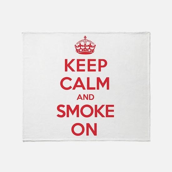 K C Smoke On Throw Blanket