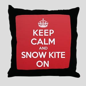 K C SnowKite On Throw Pillow