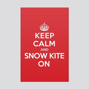 K C SnowKite On Mini Poster Print