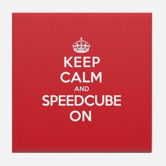 K C Speedcube On Tile Coaster