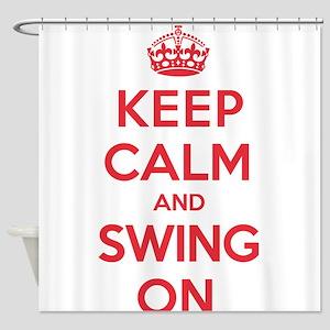 K C Swing On Shower Curtain