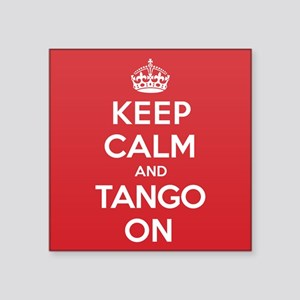 "K C Tango On Square Sticker 3"" x 3"""
